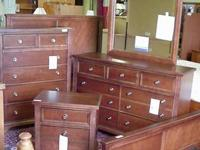 Brand New Barnburner cherry 4 piece bedroom set made by