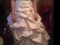 Davids bridal wedding gown for sale. Size 8 strapless