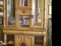 BRAND NEW WINE CABINET (CINDY CRAWFORD) Light wood with