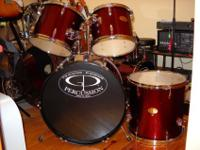This is a brand new 5 piece GP Percussion drum set.It