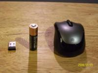 NEW WIRELES MOUSE WITH TINY USB PRON INTERTED INTO