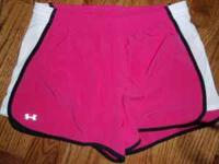 For sale is Under Armour Ladies Athletic shorts with