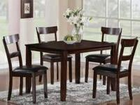 BRAND NEW Wood top dinette sets from only $298  You get