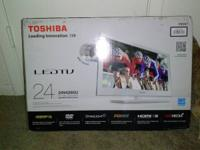 "24"" Toshiba 1080mp Built in DVD player! BRAND SPANKIN"