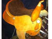"Brand new 15"" barrel racing saddle for sale or trade!"