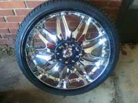 "Brand New 22"" rims and tires FWD for sale . Tires are"