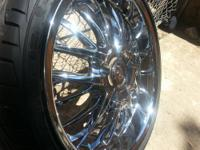 Brand new 24 inch redspot rims and tires. Brought them