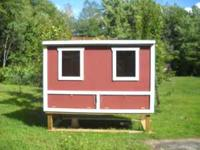SELLING ONE BRAND NEW 4X8 CHICKEN COOP WITH ELECTRIC