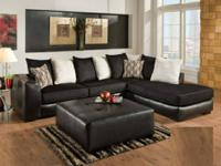 This Sectional is Available in an Ebony Black or in a