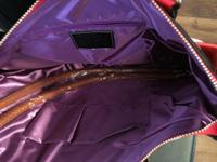 Red/Black Purple color inside No outside pockets One