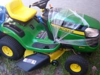 "Brand new Johndeere D110 with a 42"" cutting deck and a"