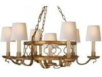 Set of 6 Linen Chandelier Shades Brand New in Plastic