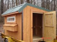 NEW SHEDS , STAINED & READY TO DRIVE YOUR EQPT IN THE