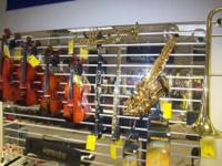We have new and used brass and woodwind instrument for