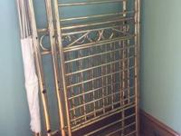 Brass crib - Great shape. Call if interested.  Matching