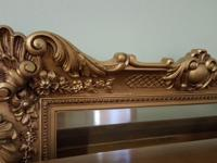 Large Brass Mirror to hang over fireplace or behind