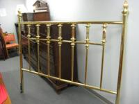 This is a very cool King Size Brass headboard, accented