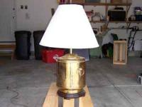 This is a very nice brass table lamp, very clean and in