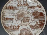 Decorative commemorative plate by Kettlesprings Kilns