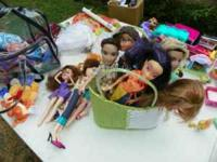 Bratz, $20.00 Littlest Pet shop $25.00 and a box of