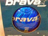 THIS IS A ( NEVER USED ) BRAVA SOCCER BALL SIZE 5