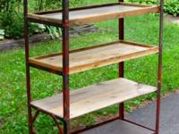 Shoe rack or bakery rack, antique.  Made of 1""
