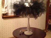 Adorable lamp. Depicts era with classy women and their