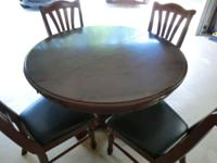 Solid wood breakfast table manufactured by Broyhill
