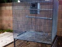 Galvanized wire bird breeder cage/flight double wired