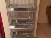 Stack cage great for breeding bird or song birds This