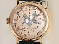 """Tradition"" wristwatch in a polished 18kt rose gold"