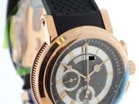 Breguet Marine Chronograph 18K Rose Gold Mens Watch