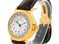 Case: 18K yellow gold case 38.0 mm in diameter.
