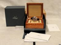 For sale is a like new in box 44mm rose gold Breguet