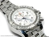 This Custom Iced Out Breitling Super Avenger is in