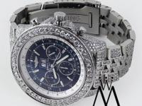 Breitling Bentley 6.75 Neptune Blue Stainless