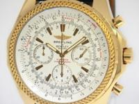 Breitling Bentley Motors 18k Yellow Gold 48mm Mens