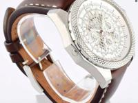 This is a Breitling, for Bentley B06 - Silver Storm on