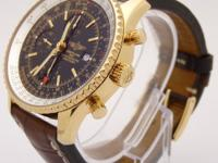 100% Authentic BREITLING NAVITIMER WORLD GMT K24322
