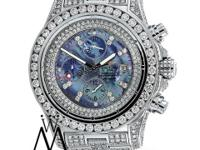 Breitling Super Avenger A13370 Watch With Custom Blue