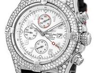 "Gent's Stainless Steel Diamond Breitling ""Super"