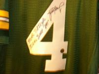 I have a Brett Favre autographed jersey,With his