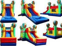 We rent Bounce Houses, Characters, Waterslides,