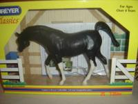 Really nice Black Arabian Breyer Horse. In the box with