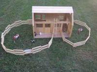 WonDerful Wooden Horse Stall/Barn for ALL your Model