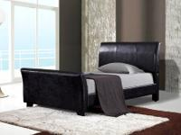 Briarwood Upholstered Bed * Wrapped in a durable black