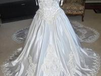 Bridal Originals Wedding Dress Size 6 New With Sequins