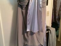 Silver/grey  bridesmaid dress size 24 from davids