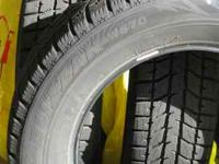 Barely used set of four studless ice and snow tires.