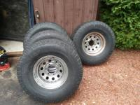 4 matching wheels and tires came off of a 85 chevy k10